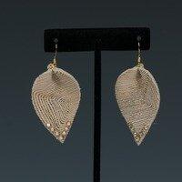 Gold Patterned Earrings -- Ellen Kenny