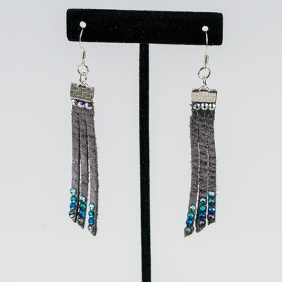 Silver Fringe Earrings -- Ellen Kenny