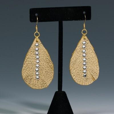 Gold Teardrop Earrings -- Ellen Kenny