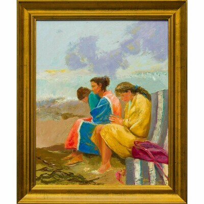 Three Girls by the Sea -- Irena Jablonski