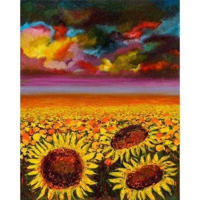 Sunflowers -- Aziza Saliev