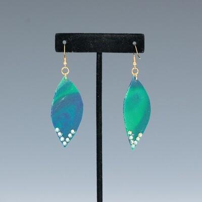 Small Green Resin Earrings -- Ellen Kenny