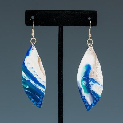 Ocean Blue Resin Earrings -- Ellen Kenny