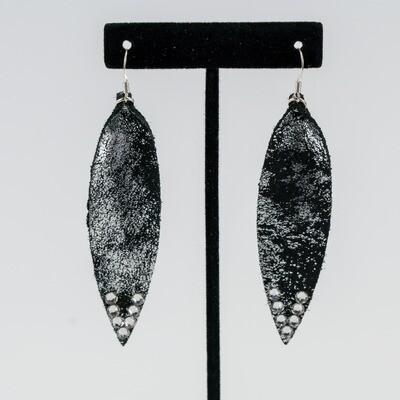 Black Metallic Earrings -- Ellen Kenny