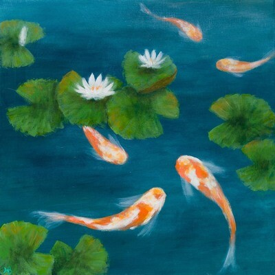Joy in the Pond III -- Hilda Bordianu