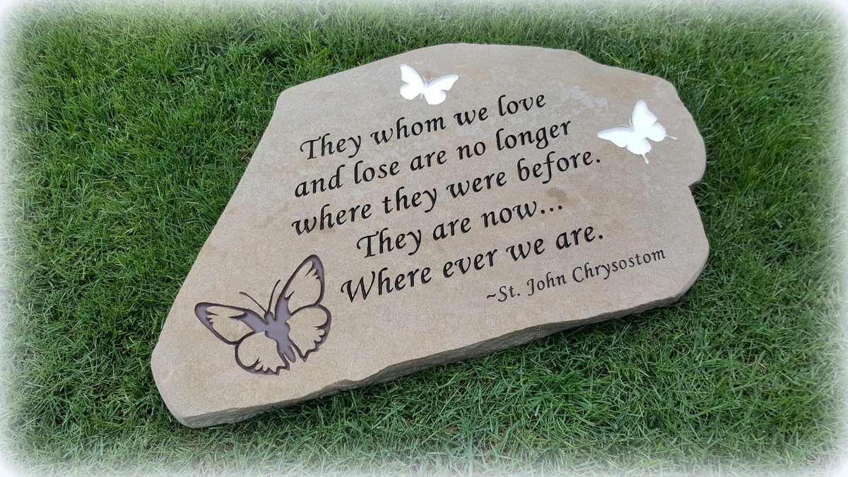 Personalized Engraved Stepping Stone - Tuscany