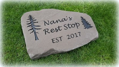 Personalized Engraved Stepping Stone - Lilac