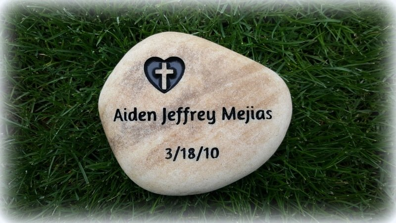 Personalized Engraved River Rock - Small