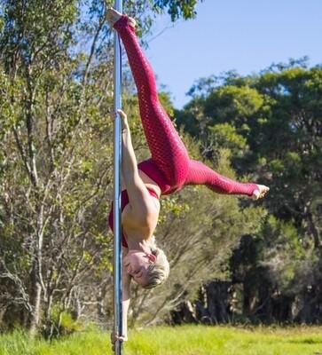 Mermaid Sticky Pole Leggings - Maroon