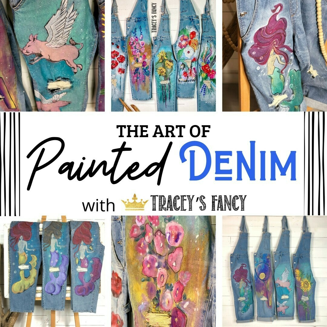 Art of Painted Denim with Tracey's Fancy