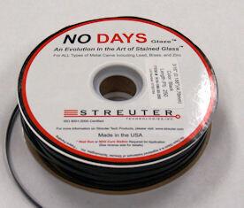 "NO Days Glaze, 9/64"" Width, Black, 50 Linear Ft"