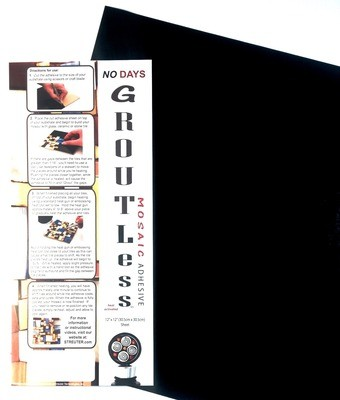 NO Days Groutless, Black, 1 Sheet Roll 12.0