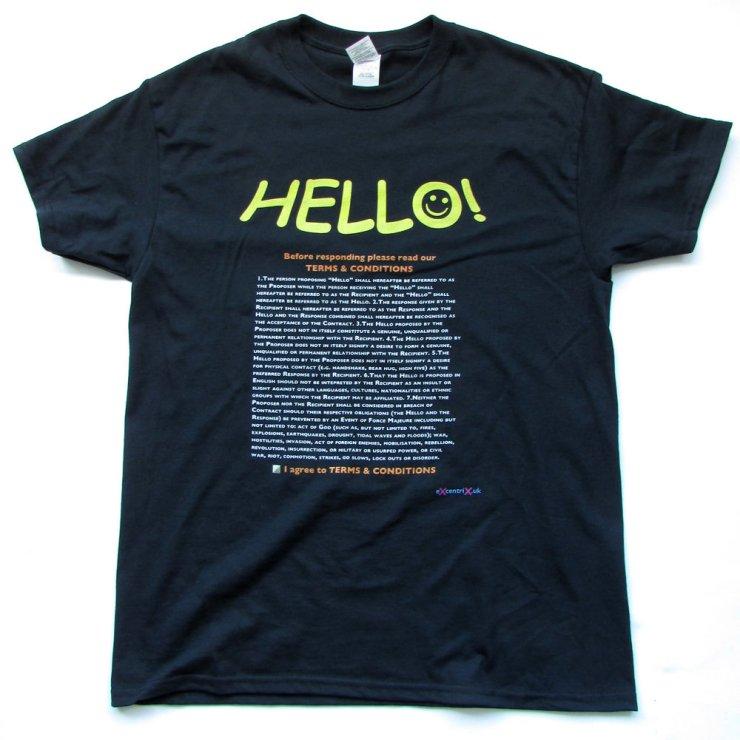 eXcentriX - Hello (GDPR compliant) T-shirt