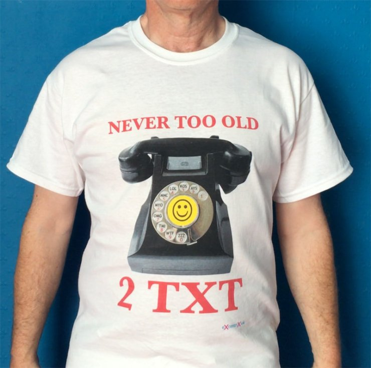 Never Too Old 2 TXT T-shirt XTS00021
