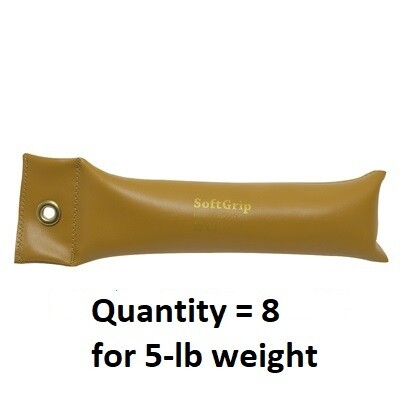 SoftGrip Hand Weight Set - (8) 5#, (1) 2#, and (1) 1#