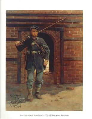 Sgt Amos Humiston 154th NY 1863 by Keith Rocco