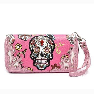 Sugar Skull Wallet Pink