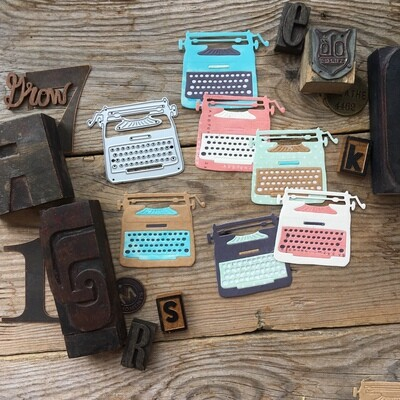 MIMICUT Metal Die Typewriter