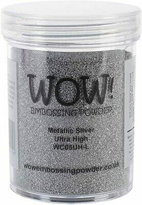 WOW Embossing Powder Metallic Silver WC05UH-L 160 ml
