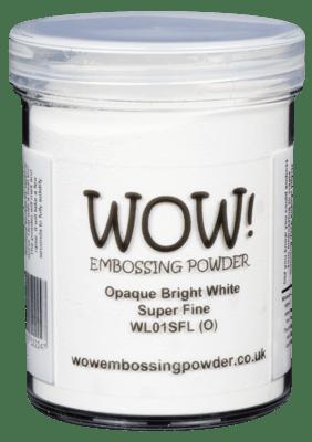 WOW Embossing Powder Opaque Bright White WL01SF-L 160 ml