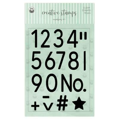 P13 Clear Stamps Numbers 01 A6