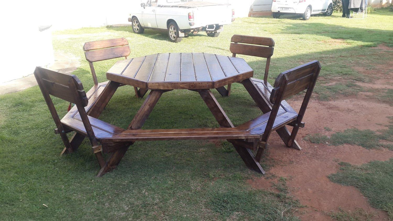 octagon 8 seater garden patio table