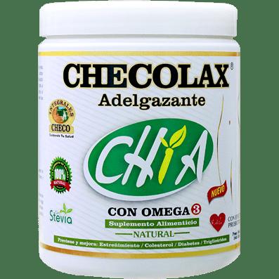 CHECOLAX Adelgazante Sabores de Canela, Naranja y Natural con Chía de (340 g.)