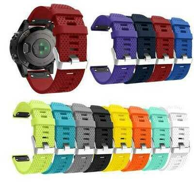 20mm Replacement Silicone Waterproof Quick Fit Watch Strap Wristband for Garmin Fenix 5S