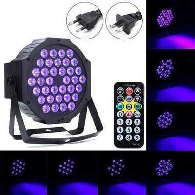 36W 36 LED UV Black Light DMX512 Sound Actived Stage Lamp for Disco Club Bar DJ Show AC90-240V
