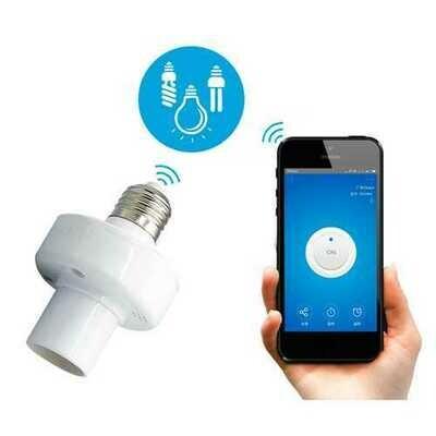 E27 WiFi Bulb Adapter Smart APP Holder Socket Work With Alexa Google Home AC90-250V