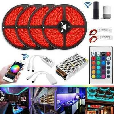 20M 20A 240W SMD5050 IP20 Smart Home WiFi APP Control LED Strip Light Kit Work With Alexa AC110-240V