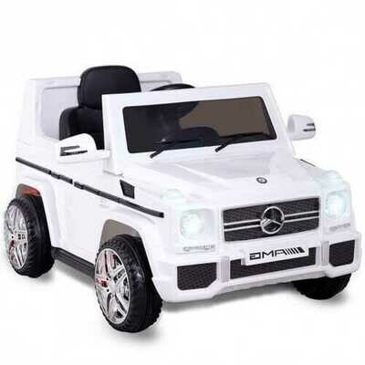 Mercedes Benz G65 Licensed Remote Control Kids Riding Car-White