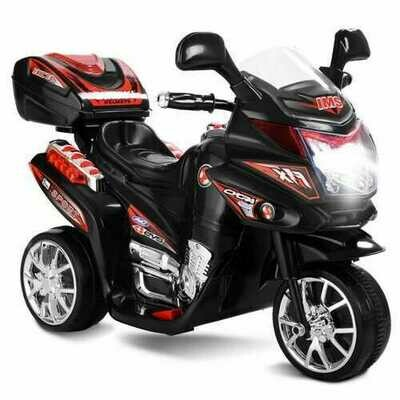 3 Wheel Kids 6V Battery Powered Electric Toy Motorcycle -Black