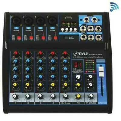 Pyle PMXU63BT 6-Channel Bluetooth Studio Audio Mixer