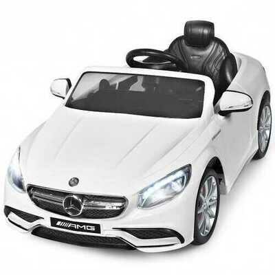 12 V Mercedes-Benz S63 Licensed Kids Ride On Car-White