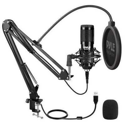 Pyle Desktop Usb Podcast Microphone Kit (pack of 1 Ea)