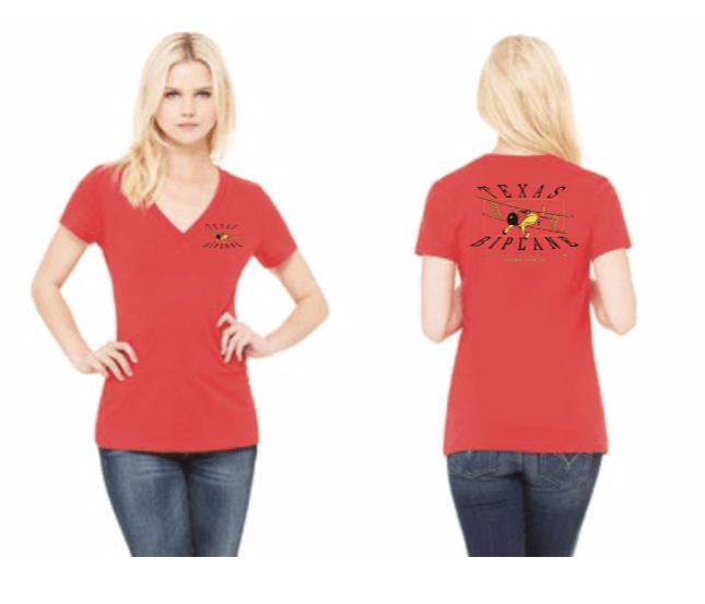 On Sale! Ladies V-Neck Red