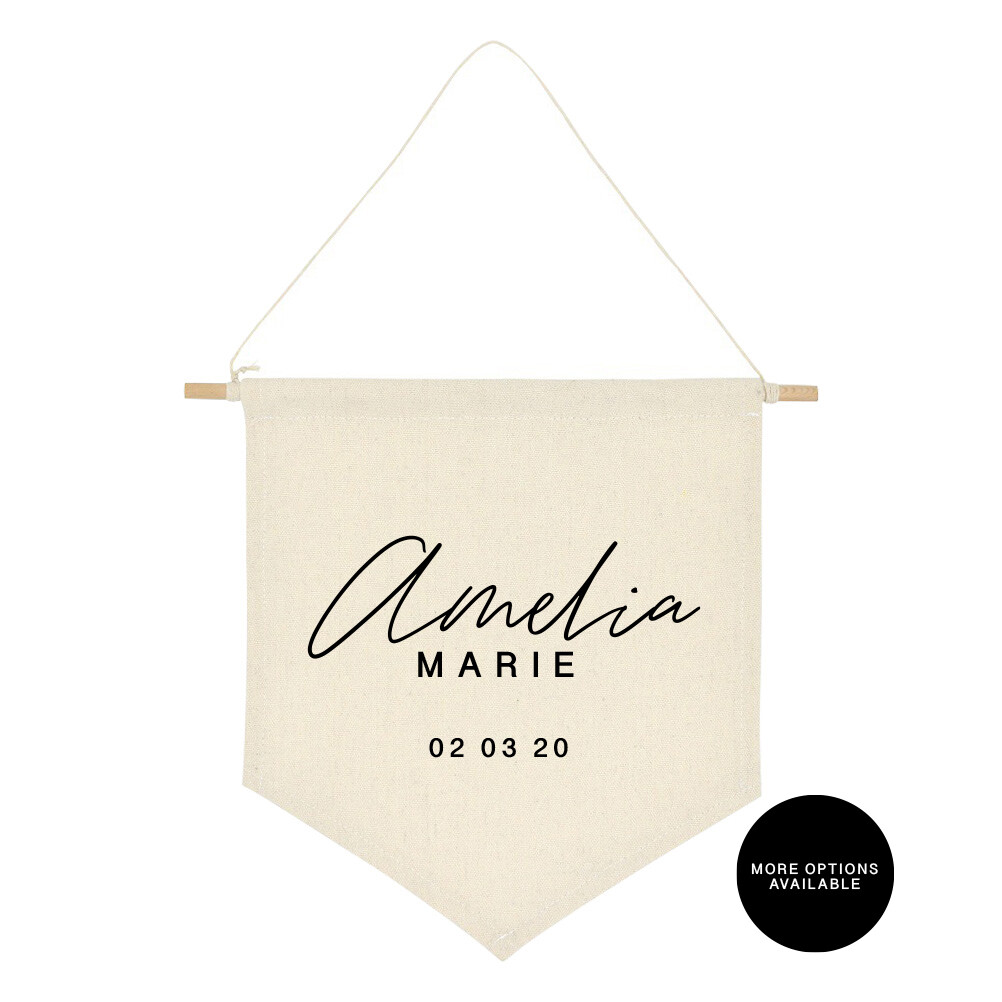 Custom Name Banner | Canvas Banner | Baby Personalized Banner