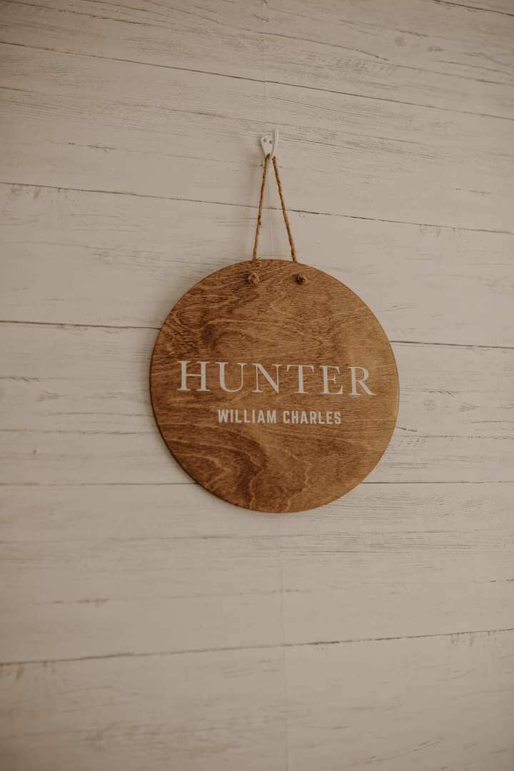 Round Wood Sign | Name Sign