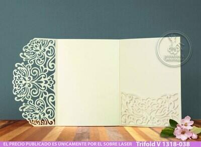 DIY Sobre de Corte Laser Trifold V 1318-038