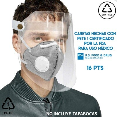 Careta Protector Facial PET