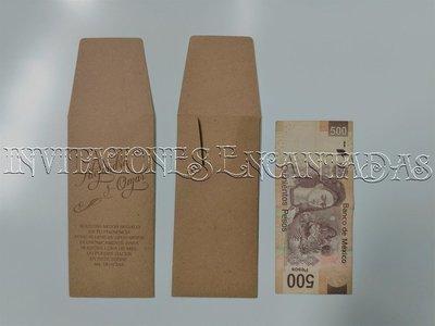 100 Sobres de Dinero 16 x 7 cms