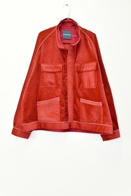 RAGLAN JACK - RED - IRREGULAR CUT CORDUROY