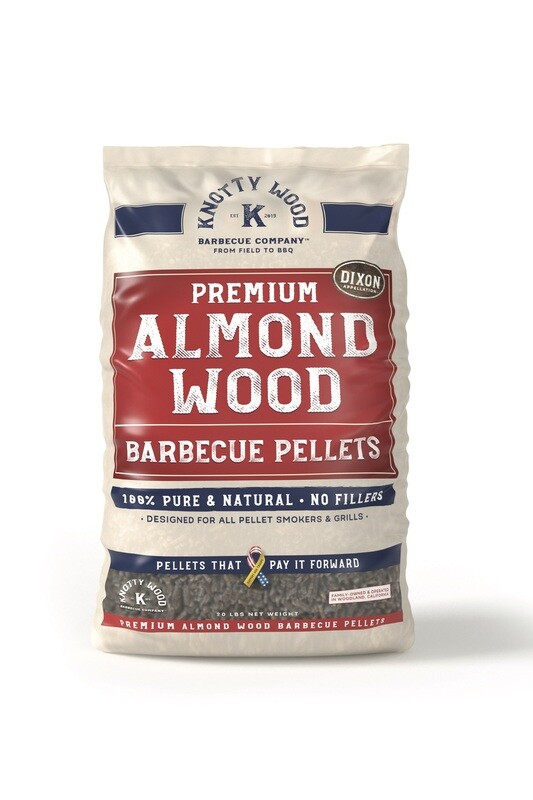 100% Pure Almond Wood Barbecue Pellets