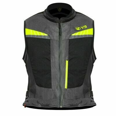 MOTO-AIRBAG MAB V3 COMPLETO - SILVER/FLUO