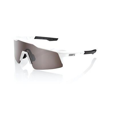 Occhiali da sole 100% SPEEDCRAFT SL - MATTE WHITE - LENTI HIPER A SPECCHIO ARGENTO