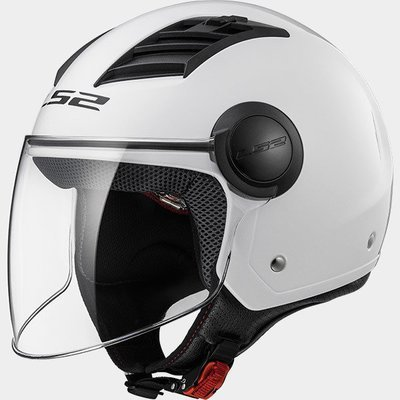 CASCO LS2 JET OF562 AIRFLOW col. BIANCO LUCIDO