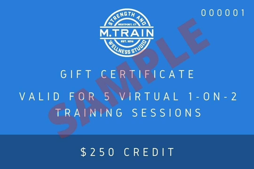 M. Train E-Gift Card 5 Virtual 1 on 2 sessions