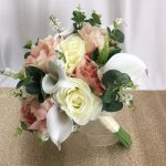 Peony Rose And Calla Lily Bouquet With Lily Of The Valley Click On Size To View