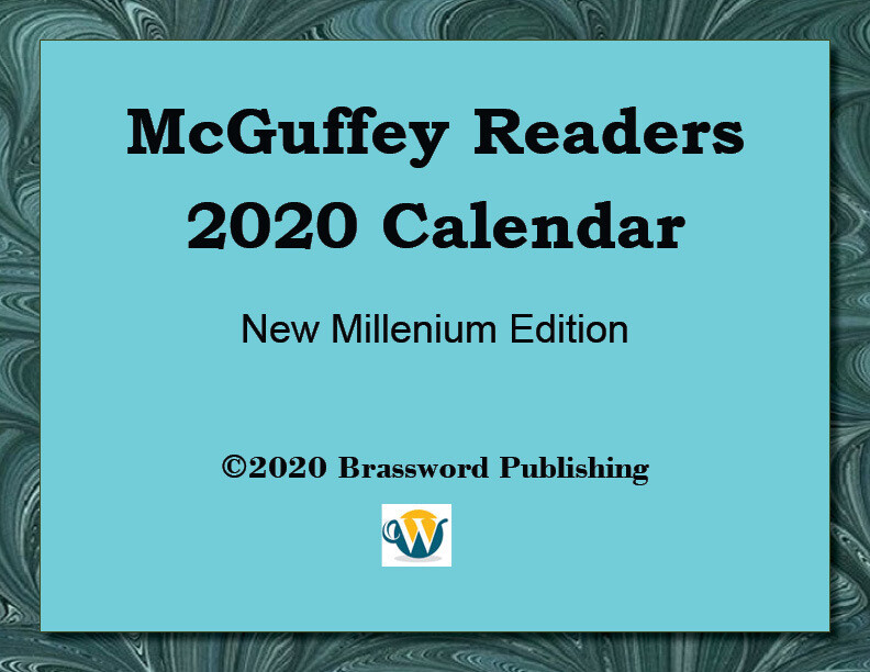 McGuffey Readers 2020 Digital Calendar